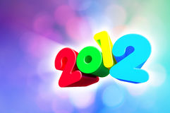 Colorful 2012 Royalty Free Stock Photos