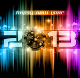 Colorful 2013 New Year Celebration Background. With Glitter and Rainbow Colours royalty free illustration