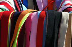 Colorful. Fabric belts in all colors Royalty Free Stock Photo