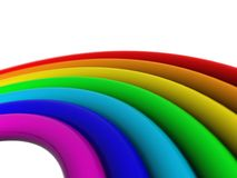 Colorful 3-D rainbow. A view of a three-dimensional rainbow isolated on a white background Royalty Free Stock Photos