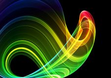 Colorful 3D abstract background Stock Photography