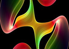 Colorful 3D abstract background Stock Images