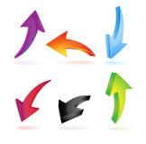 Colorful 3d arrows. Set of colorful 3d arrows Stock Image