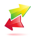 Colorful 3d arrows. On white Royalty Free Stock Photography