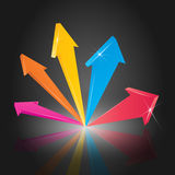Colorful 3D Arrows. Colorful 3D arrow pointing up (EPS10 - Gradient, Transparency royalty free illustration