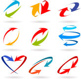 Colorful 3d arrows set Stock Images