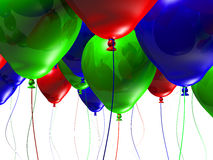 Colorful 3d Balloons. Lots of 3d balloons isolated on a white background Royalty Free Stock Photo