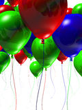 Colorful 3d Balloons. Lots of 3d balloons isolated on a white background Stock Photography