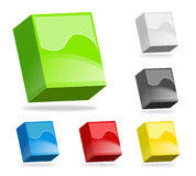 Colorful 3D boxes Royalty Free Stock Photo
