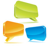 Colorful 3d bubble speech Stock Images