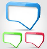 Colorful 3d bubble speech. Colorful glossy 3d bubble speech. Vector illustration Royalty Free Stock Image