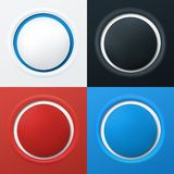 Colorful 3d buttons. Set of 3d buttons in different colors. Vector illustration Stock Photo
