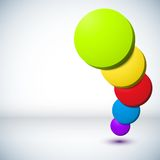 Colorful 3D circle background. Royalty Free Stock Photos