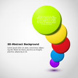 Colorful 3D circle background. Stock Images