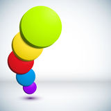 Colorful 3D circle background. Royalty Free Stock Images