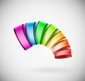 Colorful 3D icon. Creative colorful 3D icon or logo. Eps 10 stock illustration