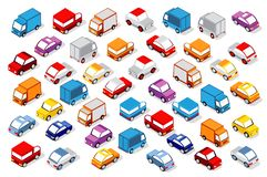 Colorful 3D Isometric Set Royalty Free Stock Photos