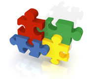 Colorful 3D Jigsaw Puzzle Royalty Free Stock Photography