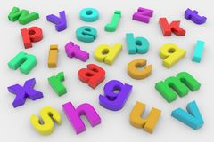Colorful 3D letters Royalty Free Stock Photography