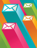 Colorful 3D Mail Icons. Stock Image