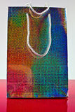 Colorful 3D paper gift bag Royalty Free Stock Photo