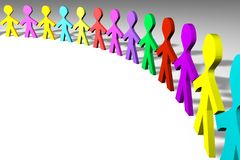 Colorful 3D people Royalty Free Stock Photo