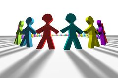 Colorful 3D people Stock Photo