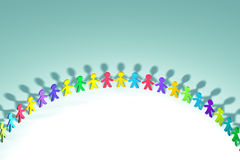 Colorful 3D people stock images