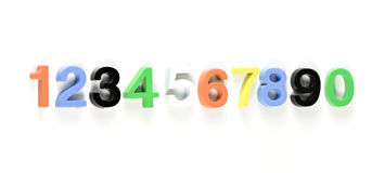 Colorful 3d plastic numbers Royalty Free Stock Images
