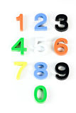 Colorful 3d plastic numbers Stock Photos