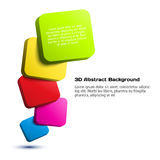 Colorful 3D rectangle background. Vector illustration for your design Royalty Free Stock Images