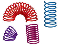 Colorful 3d springs vector illustration
