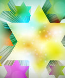 Colorful 3d stars Royalty Free Stock Images