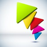 Colorful 3D triangle background. Stock Images