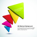 Colorful 3D triangle background. Vector illustration for your design royalty free illustration