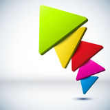 Colorful 3D triangle background. Stock Photo