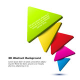 Colorful 3D triangle background. Vector illustration for your design vector illustration