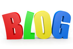Colorful 3D word BLOG. Stock Image