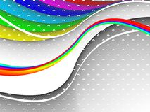 Colorful 3ds lines,  background. With copy-space Royalty Free Stock Photos