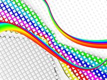 Colorful 3ds lines, background royalty free illustration