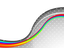 Colorful 3ds lines, vector background Stock Image