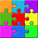 Colorful 3x3 Puzzle Stock Image