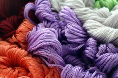 Colorful. Thread, background/pattern/texture Royalty Free Stock Photo