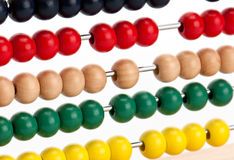 Colorful abacus beads Royalty Free Stock Photography