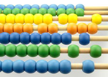 Colorful abacus beads Stock Images