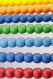 Colorful abacus beads, macro image Stock Image