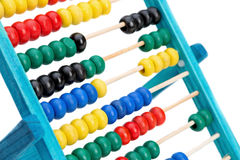 Colorful abacus for doing calculations. Stock Image