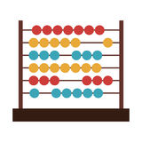 Colorful abacus icon. Over white background. mathematics education object. vector illustration Stock Photography