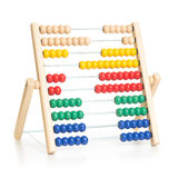 Colorful abacus kids toy isolated Royalty Free Stock Images
