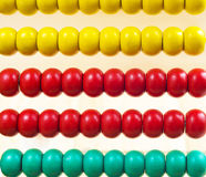 Colorful Abacus for Math Learning as background.  Stock Photos